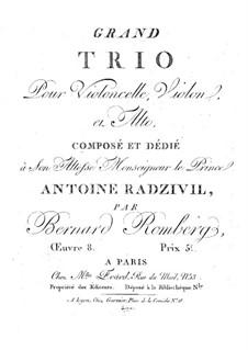 Grand String Trio in F Major, Op.8: Violin part by Bernhard Romberg
