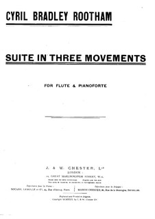Suite for Flute and Piano: Score by Cyril Bradley Rootham
