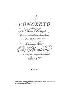 Violin Concerto No.2 in G Major: Violin Concerto No.2 in G Major by Niccolò Mestrino