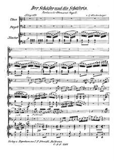 Fantasia for Oboe, Bassoon and Piano 'Der Schäfer und die Schäferin': Full score by Hilmar Mückenberger