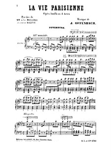 La vie parisienne (Parisian Life): Act I, for voices and piano by Jacques Offenbach