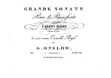 Grand Sonata for Piano Four Hands No.1, Op.7: Parts by Georges Onslow