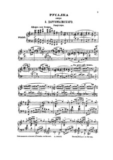 Mermaid: Piano score by Alexander Dargomyzhsky