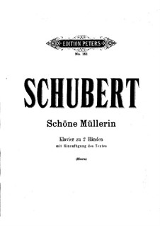 Complete Cycle: Piano score by Franz Schubert