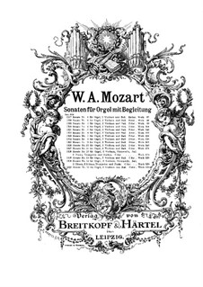 Church Sonata for Two Violins, Organ and Basso Continuo No.17 in C Major, K.336 (336d): Full score by Wolfgang Amadeus Mozart