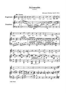 Five Songs, Op.107: Nr.2 Salamander by Johannes Brahms