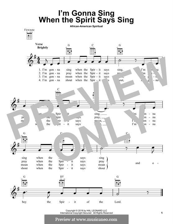 I'm Gonna Sing: For ukulele by folklore