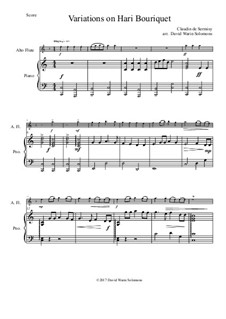 Variations on Hari Bouriquet: For alto flute and piano by Claudin de Sermisy