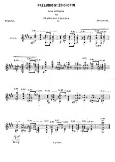 No.20 in C Minor: For guitar by Frédéric Chopin