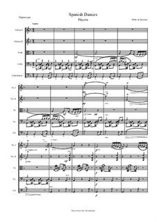 Playera and Zapateado, Op.23: For string orchestra by Pablo de Sarasate
