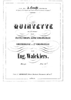 Quintet for Flute and Strings, Op.90: Flute part by Eugène Walckiers