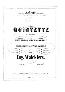 Quintet for Flute and Strings, Op.90: Viola part by Eugène Walckiers
