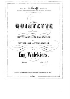 Quintet for Flute and Strings, Op.90: Double bass part by Eugène Walckiers