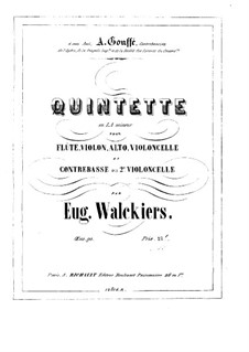 Quintet for Flute and Strings, Op.90: Cello I part by Eugène Walckiers
