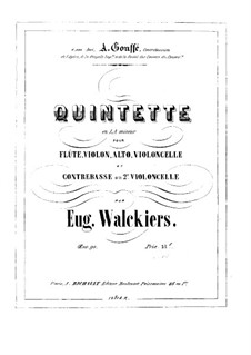Quintet for Flute and Strings, Op.90: Cello II part by Eugène Walckiers