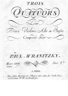 Six String Quartets, Op.23: Quartets No.1-3 – violin I part by Paul Wranitzky