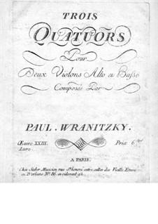 Six String Quartets, Op.23: Quartets No.1-3 – cello part by Paul Wranitzky