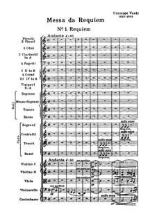 Messa da Requiem: No.1 Requiem by Giuseppe Verdi