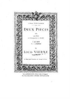 Two Pieces for Viola and Piano, Op.5: No.2 Légende by Louis Vierne