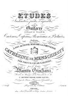 Twenty-Four Etudes for Guitar, Op.100: Complete set by Mauro Giuliani