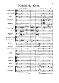 Wedding March for Orchestra in E Flat Major, Op.21: Wedding March for Orchestra in E Flat Major by Alexander Glazunov
