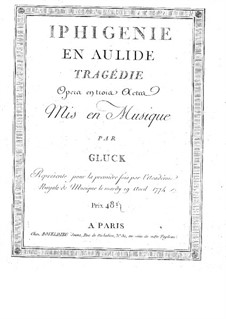 Iphigenia in Aulis, Wq.40: Overture – full score by Christoph Willibald Gluck