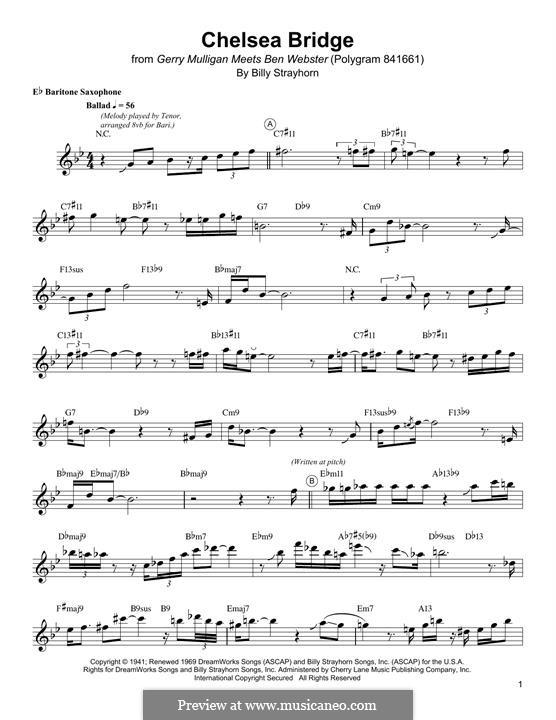 Chelsea Bridge (Duke Ellington): For baritone saxophone by Billy Strayhorn