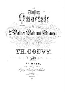 String Quartet No.5 in C Minor, Op.68: Viola part by Louis Théodore Gouvy