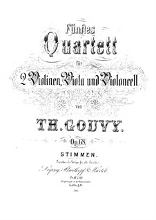 String Quartet No.5 in C Minor, Op.68: Violin II part by Louis Théodore Gouvy