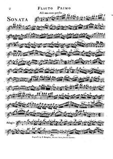 Trio Sonata in D Major: Flute I part by Friedrich Hartmann Graf