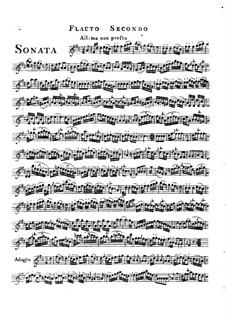 Trio Sonata in D Major: Flute II part by Friedrich Hartmann Graf