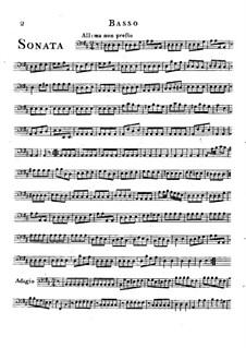 Trio Sonata in D Major: Cello part by Friedrich Hartmann Graf