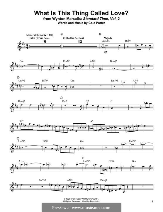 What Is This Thing Called Love?: For trumpet by Cole Porter