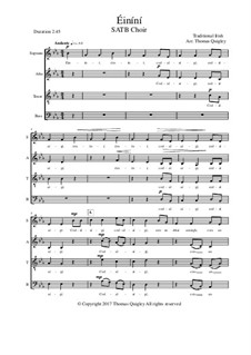 Éiníní: SATB choir by folklore