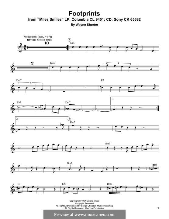 Footprints: For trumpet (Miles Davis) by Wayne Shorter