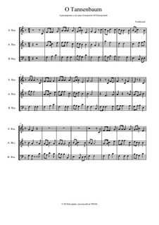 O Christmas Tree (O Tannenbaum): For wind ensemble by folklore