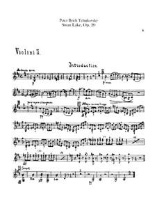 Complete Ballet: Violins II parts by Pyotr Tchaikovsky