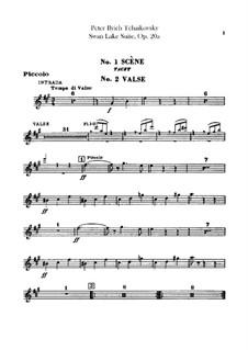 Version B: Flute piccolo part by Pyotr Tchaikovsky