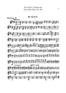 Version B: Violins II part by Pyotr Tchaikovsky
