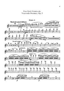 The Voyevoda, TH 1 Op.3: Overture – flutes parts by Pyotr Tchaikovsky