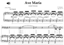 Ave Maria (Piano-vocal score), D.839 Op.52 No.6: For bass (F-Sharp Major) with piano accompaniment by Franz Schubert