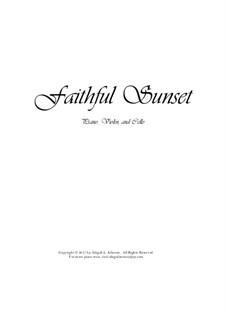 Faithful Sunset (Piano Trio): Faithful Sunset (Piano Trio) by Abigail Johnson