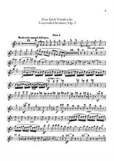 The Voyevoda, TH 1 Op.3: Overture – oboes and english horn parts by Pyotr Tchaikovsky