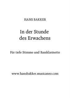 In der Stunde des Erwachens: Für tiefe Stimme und Bassklarinette by Hans Bakker