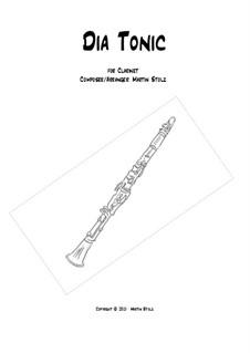 Dia Tonic: For clarinet by Martin Stolz