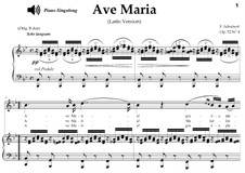 Ave Maria, D.839 Op.52 No.6: For soprano or tenor (B-Flat Major) with piano sing-along by Franz Schubert