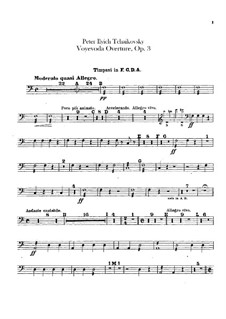 The Voyevoda, TH 1 Op.3: Overture – percussion parts by Pyotr Tchaikovsky