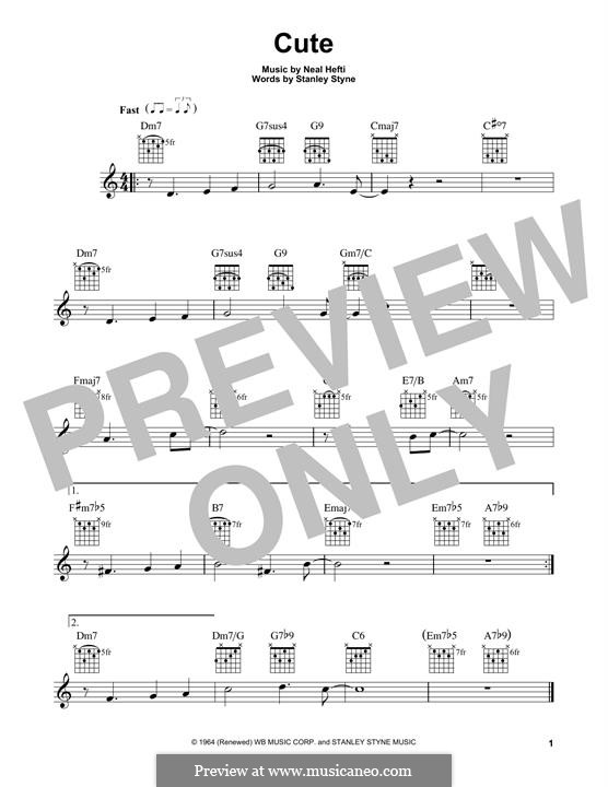 Cute: For guitar with tab by Neal Hefti