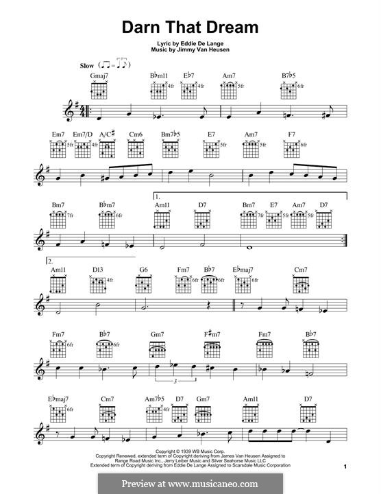 Darn That Dream: For guitar with tab by Jimmy Van Heusen