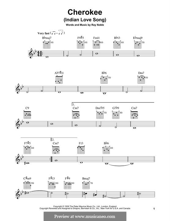 Cherokee: For guitar with tab by Ray Noble